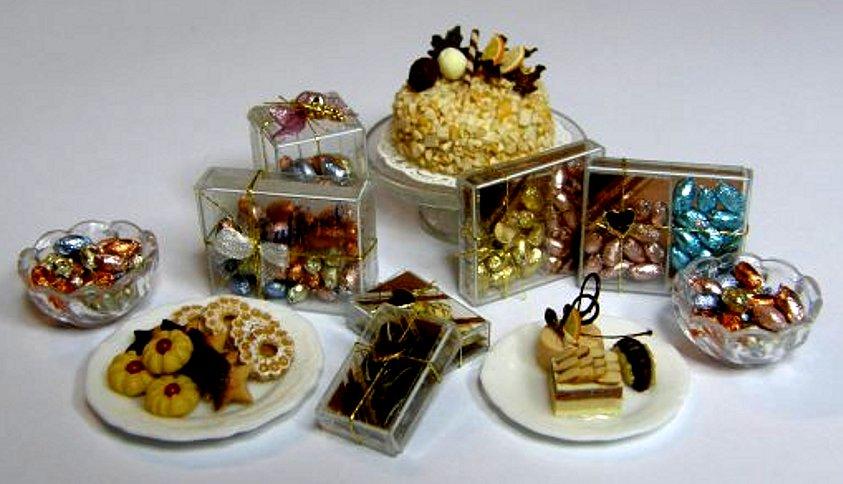 CDHM Artisan Elisabetta Croce of Le Molecole, 1:12 dollhouse miniature foods, italian foods, polymer clay