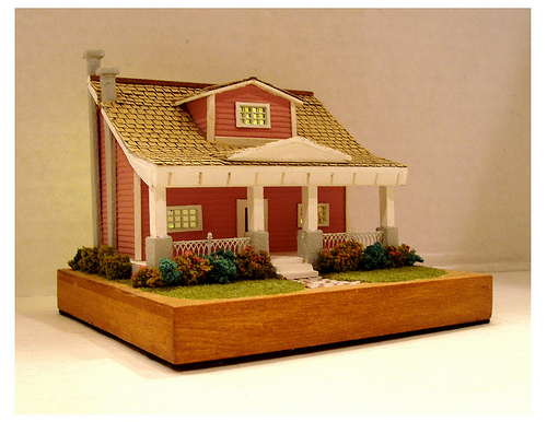 Crafters cottage in 144 scale by CDHM Artisan Lauretta Carroll of Midnight Magic Miniatures