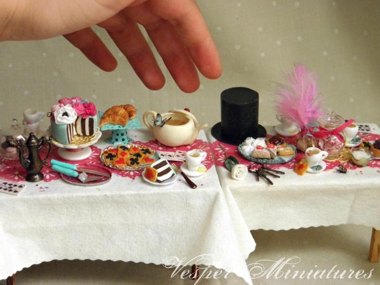 OOAK 1:12 scale dollhouse miniature baskets submission works to IGMA by CDHM Artisan Veselina Koleva of Vesper Miniatures