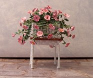 CDHM artisan Mary Rench creates wicker dollhouse scale 1:12 scale furniture and flowers