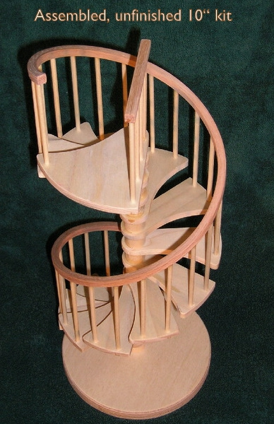 ... Dollhouse Miniature Furniture In 1:12 Scale Including Spiral Staircases  For The Dolls House. He Also Offers Kits For You To Assemble In A DIY.