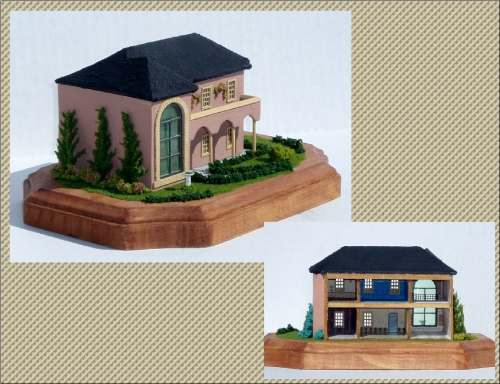 CDHM Artisan Lauretta Carroll of Midnight Magic Miniatures 144 scale dollhouses and roomboxes, including shops, italian villas, victorian dollhouses, finished with lighting, flooring, wallpaper