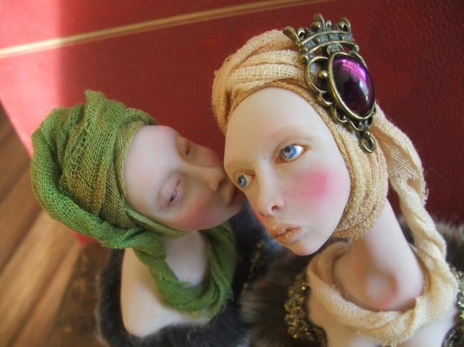 Handmade miniature Art Dolls by Nefer Kane
