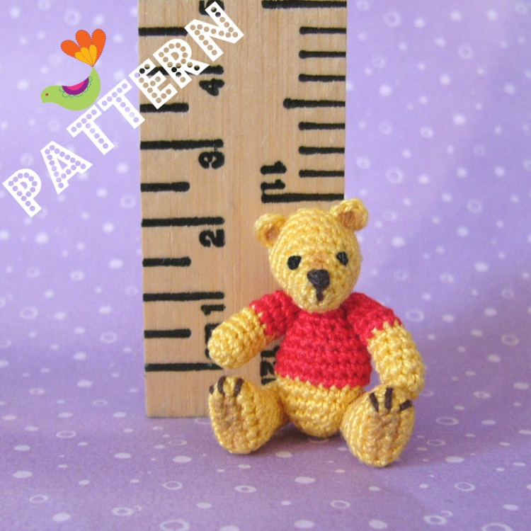 MONIQUE - Miniature TEDDY BEAR Crochet Pattern - Download Recipes