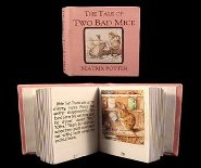 cdhm artisan pat carlson creates readable bound books in 1:12 scale, the tale of two bad mice