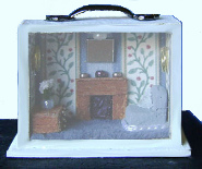 CDHM Forum member Sue Farmer has created a tiny 144 scale fully furnished dollhouse roombox