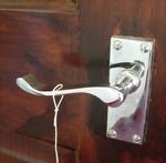 Using a door handle