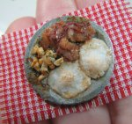 Completed dollhouse miniature breakfast plate