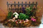 Completed flower garden and/or border for your dolls house or roombox