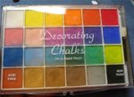 Using art chalks.
