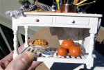 Examples of polymer clay dollhouse pumpkins