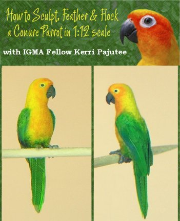 learn to sculpt a 1:12 scale parrot