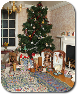 Christmas Dollhouse Decorations.Cdhm The Miniature Way Imag Featured Dollhouse December