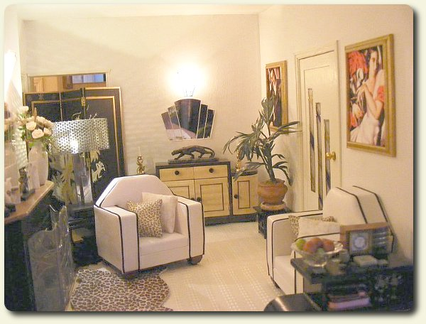 February 2010 cdhm feature on dollhouses for Art deco style living room furniture