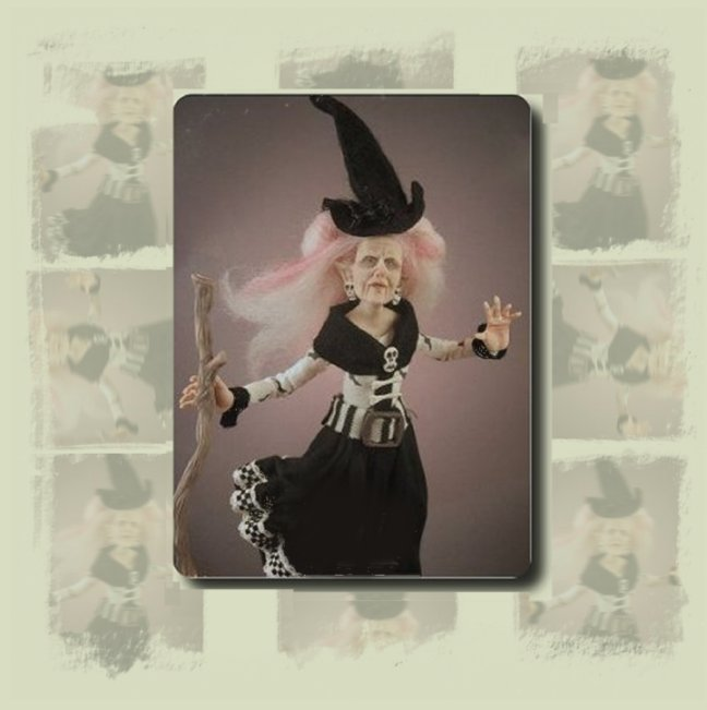 Choice Halloween Costume Dolls or artist Ghost in Miniature Dollhouse 1:12 Scale